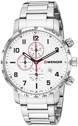 ウェンガー スイス メンズ 腕時計 【送料無料】Wenger Men's Attitude Swiss-Quartz Stainless-Steel Strap, Silver, 22 Casual Watch (Model: 01.1543.110)ウェンガー スイス メンズ 腕時計