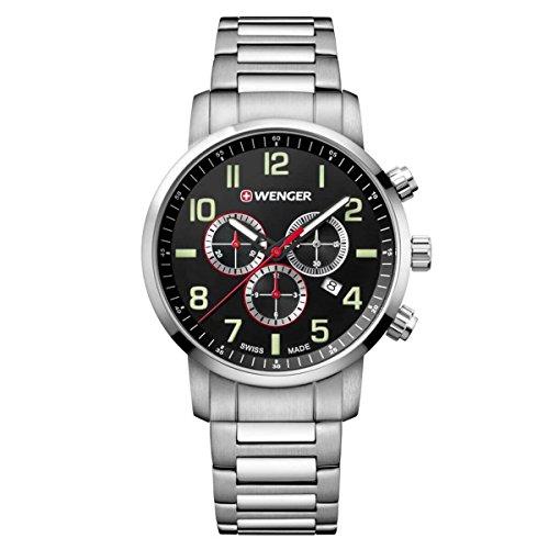 腕時計 ウェンガー スイス メンズ 腕時計 【送料無料】Watch WENGER 01.1543.102 Men Silver Chrono腕時計 ウェンガー スイス メンズ 腕時計