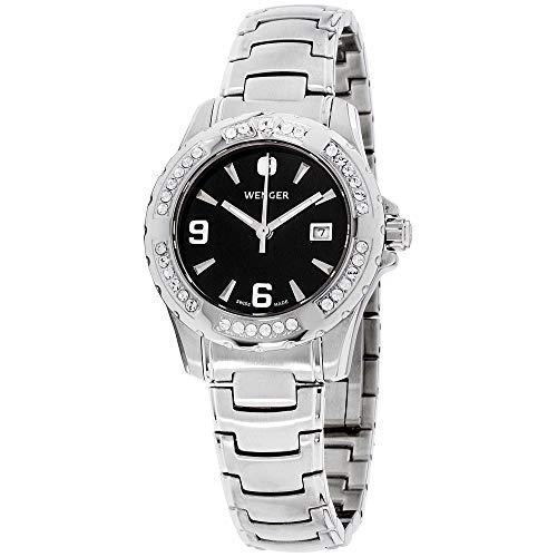 腕時計 ウェンガー スイス レディース 【送料無料】Wenger Sport Elegance Quartz Movement Black Dial Ladies Watch 70399腕時計 ウェンガー スイス レディース