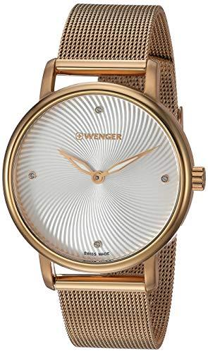 腕時計 ウェンガー スイス レディース 【送料無料】Wenger Women's Urban Donnissima Swiss-Quartz Stainless-Steel Strap, Gold, 16.5 Casual Watch (Model: 01.1721.114)腕時計 ウェンガー スイス レディース