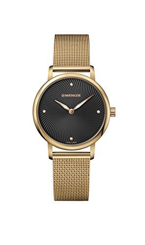 ウェンガー スイス 腕時計 レディース 【送料無料】Wenger Women's Classic Swiss-Quartz Watch with Gold-Tone-Stainless-Steel Strap, 17 (Model: 01.1721.102)ウェンガー スイス 腕時計 レディース