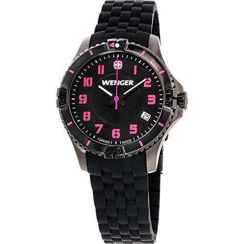 ウェンガー スイス 腕時計 レディース 【送料無料】Wenger Squadron Quartz Movement Black Dial Ladies Watch 01.0121.112ウェンガー スイス 腕時計 レディース