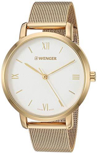 ウェンガー スイス アーミーナイフ メンズ 腕時計 Wenger Women's Metropolitan Donnissima Swiss-Quartz Stainless-Steel Strap, Silver, 16.4 Casual Watch (Model: 01.1731.107)ウェンガー スイス アーミーナイフ メンズ 腕時計