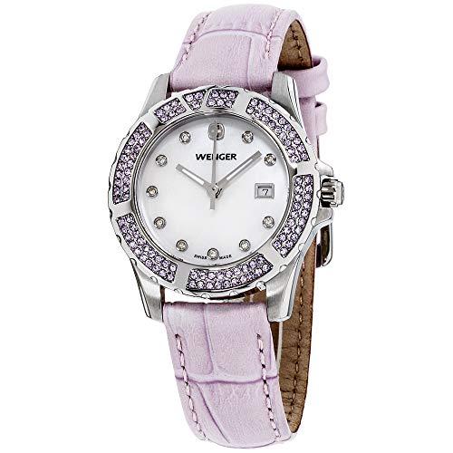 ウェンガー スイス アーミーナイフ メンズ 腕時計 Wenger Women's 70311 Sport Elegance Lavender Leather Strap Watchウェンガー スイス アーミーナイフ メンズ 腕時計