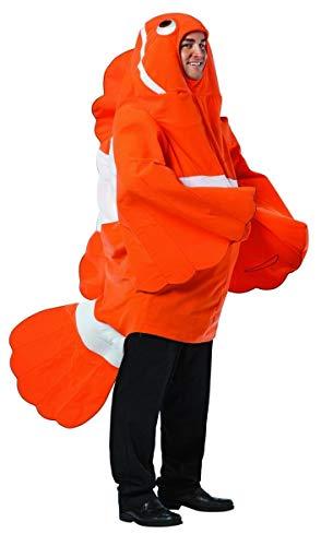 コスプレ衣装 コスチューム その他 Rasta Imposta - Clown Fish Adult Costume - One-Size (Standard) - Orangeコスプレ衣装 コスチューム その他
