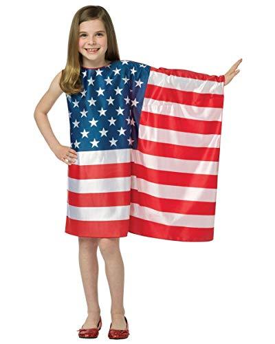 コスプレ衣装 コスチューム その他 【送料無料】Rasta Imposta USA Flag Dress, 7-10 Yearsコスプレ衣装 コスチューム その他