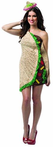 コスプレ衣装 コスチューム その他 【送料無料】Rasta Imposta Women's Foodies Taco Dress, Multi, One Sizeコスプレ衣装 コスチューム その他
