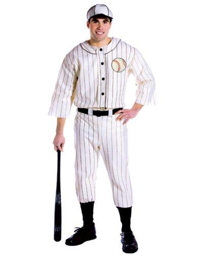 コスプレ衣装 コスチューム その他 【送料無料】Rasta Imposta Old Tyme Baseball Player Uniform and Hat, White, One Sizeコスプレ衣装 コスチューム その他