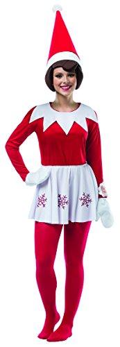 コスプレ衣装 コスチューム その他 【送料無料】Rasta Imposta Women's Elf On A Shelf Female, Red/White, One Sizeコスプレ衣装 コスチューム その他