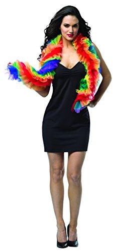 コスプレ衣装 コスチューム その他 【送料無料】Rasta Imposta Women's Fab Boas-Ruffled Rainbow, Multi, One Sizeコスプレ衣装 コスチューム その他