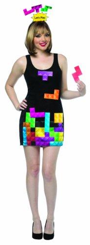 コスプレ衣装 コスチューム その他 Rasta Imposta Women's Tetris Game Dress Interactive, Black/Multi, One Sizeコスプレ衣装 コスチューム その他