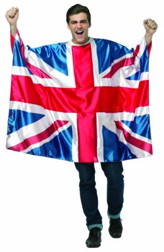 コスプレ衣装 コスチューム その他 Rasta Imposta Men's Flag Tunic- UK, Red/White/Blue, One Sizeコスプレ衣装 コスチューム その他