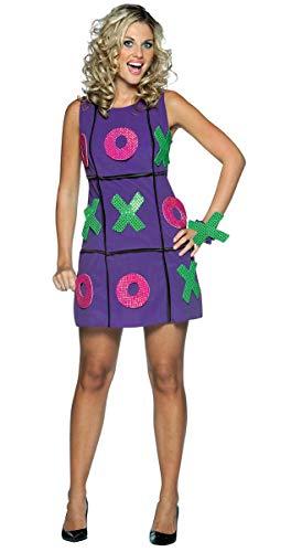 コスプレ衣装 コスチューム その他 【送料無料】Rasta Imposta Tic Tac Toe Dress, Purple, Adult 4-10コスプレ衣装 コスチューム その他