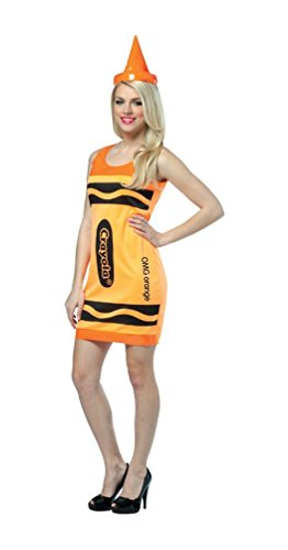 コスプレ衣装 コスチューム その他 【送料無料】Crayola Neon Orange Tank Dress Adult Costumeコスプレ衣装 コスチューム その他