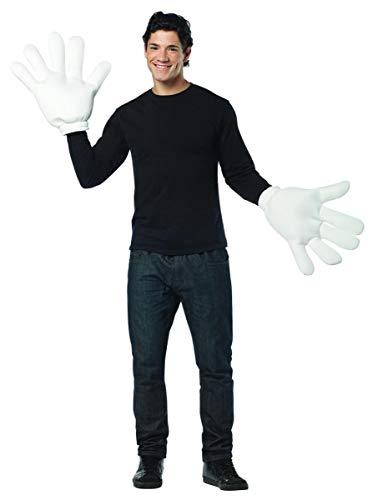 コスプレ衣装 コスチューム その他 【送料無料】Rasta Imposta Giant Gloves, White, One Sizeコスプレ衣装 コスチューム その他