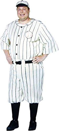 コスプレ衣装 コスチューム その他 【送料無料】Old Tyme Baseball Player Adult Costume - Plus Sizeコスプレ衣装 コスチューム その他