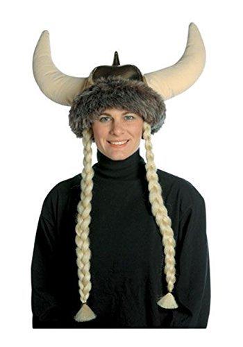 コスプレ衣装 コスチューム その他 【送料無料】Rasta Imposta Space Viking Hat With Braids, Brown, One Sizeコスプレ衣装 コスチューム その他