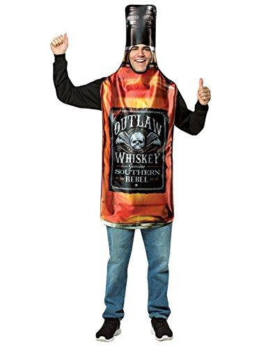 コスプレ衣装 コスチューム その他 Rasta Imposta Men's Get Real Whiskey Bottle, Brown, OSコスプレ衣装 コスチューム その他