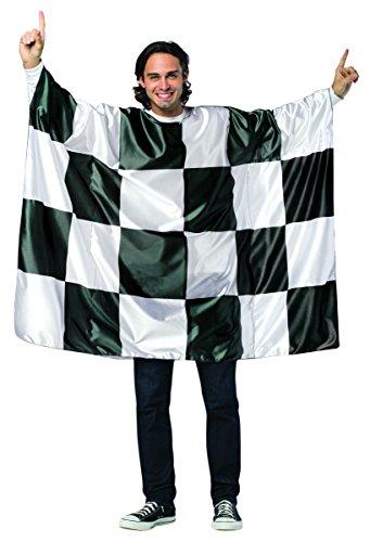 コスプレ衣装 コスチューム その他 【送料無料】Rasta Imposta Flag Tunic-Checkered, Black/White, One Sizeコスプレ衣装 コスチューム その他