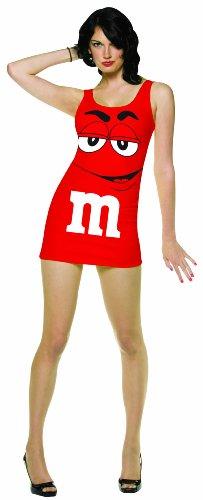 コスプレ衣装 コスチューム その他 【送料無料】Rasta Imposta M&M's Tank Dress, Red, Adult 4-10コスプレ衣装 コスチューム その他