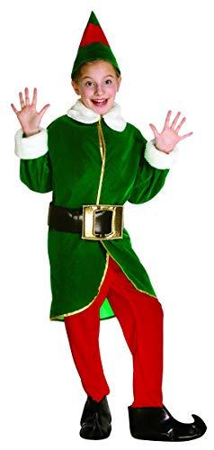 コスプレ衣装 コスチューム その他 【送料無料】Rasta Imposta Green and Red Elf Children's Costume, 7-10, Green and Redコスプレ衣装 コスチューム その他