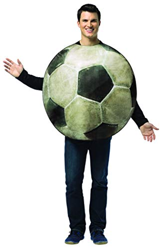 コスプレ衣装 コスチューム その他 【送料無料】Rasta Imposta Get Real Soccer Ball, White/Black, One Sizeコスプレ衣装 コスチューム その他