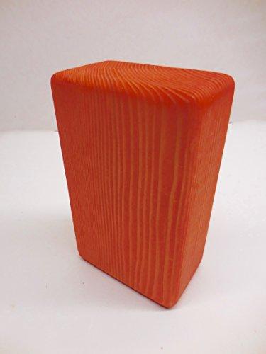 ヨガブロック フィットネス Yoga Block - Orange Solid Wood - Sacral Chakra Svadisthanaヨガブロック フィットネス