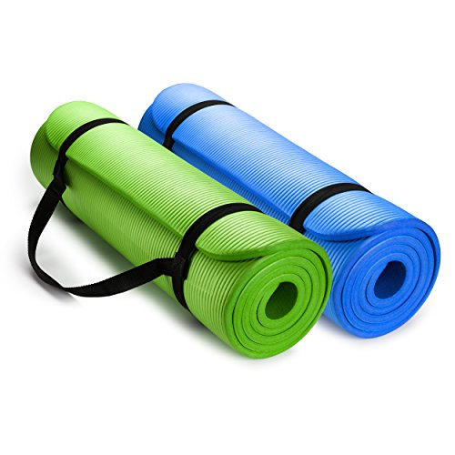 ヨガマット フィットネス HemingWeigh 1/2-Inch Extra Thick High Density Exercise Yoga Mat with Carrying Strap (2 Pack Combo)ヨガマット フィットネス