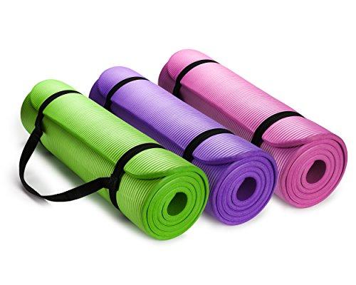 ヨガマット フィットネス HemingWeigh 1/2-Inch Extra Thick High Density Exercise Yoga Mat with Carrying Strap (3 Pack Combo)ヨガマット フィットネス