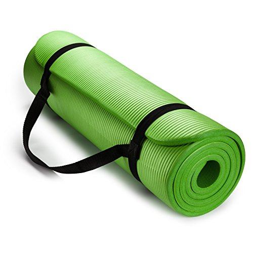 ヨガマット フィットネス HemingWeigh 1/2-Inch Extra Thick High Density Exercise Yoga Mat with Carrying Strap (Green)ヨガマット フィットネス