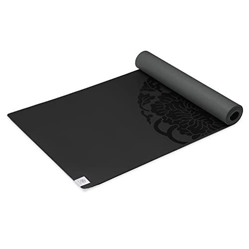 ヨガマット フィットネス 05-61028 Gaiam Sol Dry-Grip Yoga Mat, Black, 5mmヨガマット フィットネス 05-61028