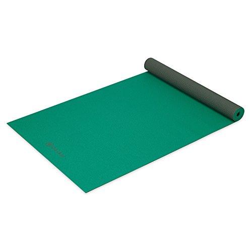 ヨガマット フィットネス 05-61957 Gaiam Yoga Mat Classic Solid Color Reversible Non Slip Exercise & Fitness Mat for All Types of Yoga, Pilates & Floor Exercises, Green Storm, 3/4mmヨガマット フィットネス 05-61957