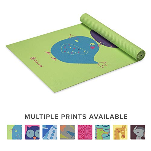 ヨガマット フィットネス 05-62134 Gaiam Kids Yoga Mat Exercise Mat, Yoga for Kids with Fun Prints - Playtime for Babies, Active & Calm Toddlers and Young Children, Birdsong, 3mmヨガマット フィットネス 05-62134