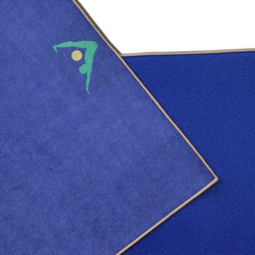 ヨガマット フィットネス Aurorae Non Slip 2-in-1 Yoga Mat with Integrated Towel, 72-Inchヨガマット フィットネス