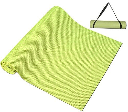 ヨガマット フィットネス 【送料無料】DA VINCI Non Slip Yoga Mat with Carry Strap, 72 Inch Long x 24 Inch Wide, 0.25 Inch Thick (Light Green)ヨガマット フィットネス