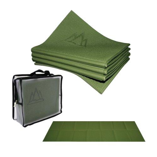 ヨガマット フィットネス YFM-ECEL-362C 【送料無料】Khataland YoFoMat - Best Travel Yoga Mat - Green, Extra Long 72