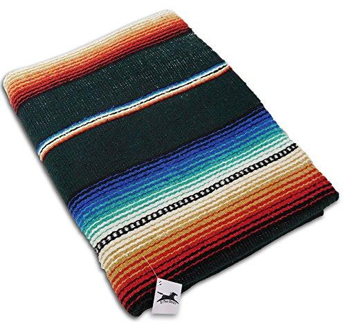 限定版 ヨガマット フィットネス ONWRB-GREEN El Paso Designs Serape Style Vivid Falsa Serape Blanket. Blanket. Classic Mexican Style Serape Pattern in Vivid Colors. Hand Woven Acrylic, 57