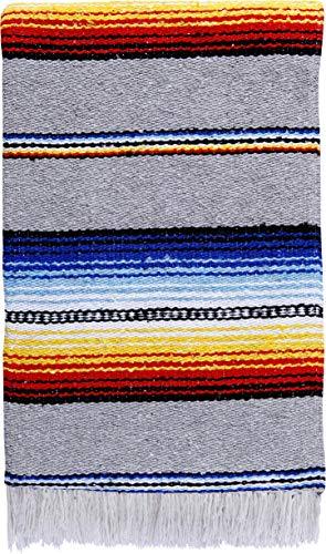 ヨガマット フィットネス ONWRB-GREY 【送料無料】El Paso Designs Serape Style Falsa Blanket. Classic Mexican Style Serape Pattern in Vivid Colors. Hand Woven Acrylic, 57