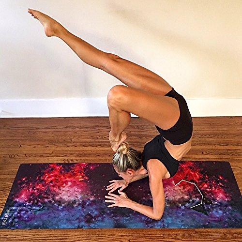 ヨガマット フィットネス Limited Edition - Galaxy Yoga Mat - Machine Washable, Printed, Non-Slip, Extra Thick, Extra Long, Best Grip/Combo Mat, Great for Sweaty Practice/Hands, Uniquely Designed, Durableヨガマット フィットネス