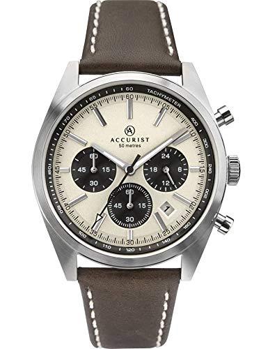 アキュリスト 腕時計 メンズ イギリス ロンドン 【送料無料】Accurist Mens Chronograph Quartz Watch with Leather Strap 7275アキュリスト 腕時計 メンズ イギリス ロンドン