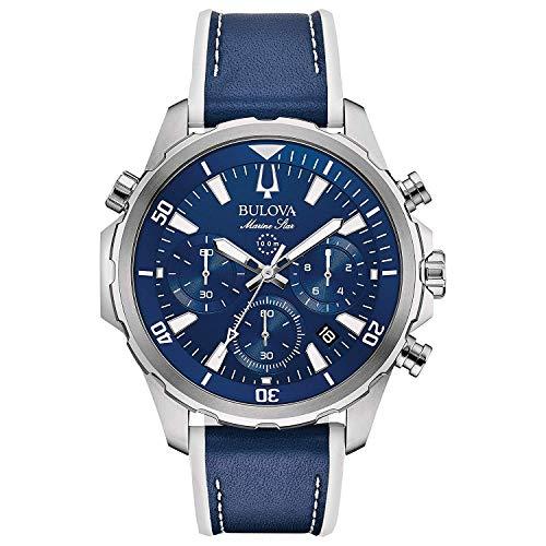 ブローバ 腕時計 メンズ 【送料無料】Bulova Mens Chronograph Quartz Watch with Silicone Strap 96B287ブローバ 腕時計 メンズ