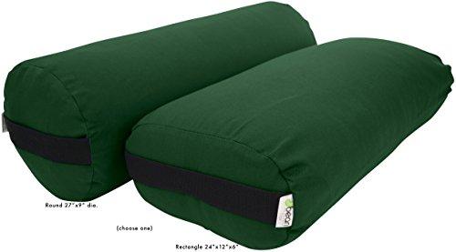 ヨガ フィットネス 【送料無料】Bean Products Forest Green - Cotton Rectangular Yoga Bolsterヨガ フィットネス