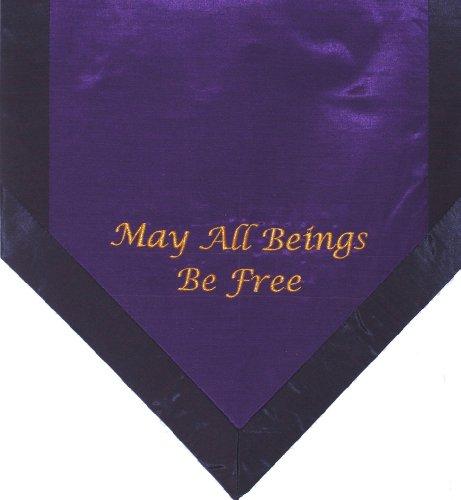 ヨガ フィットネス new Boon Decor Altar Cloth Or Wall Hangings - Embroidered - May All Beings Be Free - Purpleヨガ フィットネス new