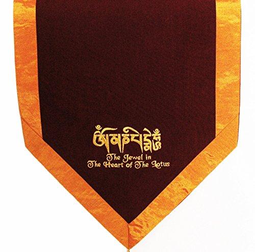 ヨガ フィットネス new Boon Decor Altar Cloth Or Wall Hanging - Embroidered -Tibetan Jewel In The Heart of The Lotusヨガ フィットネス new