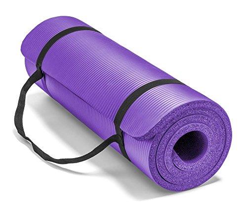 ヨガマット フィットネス 0034E 【送料無料】Spoga Premium Extra Thick 71-Inch Long High Density Exercise Yoga Mat with Comfort Foam and Carrying Straps, Purpleヨガマット フィットネス 0034E