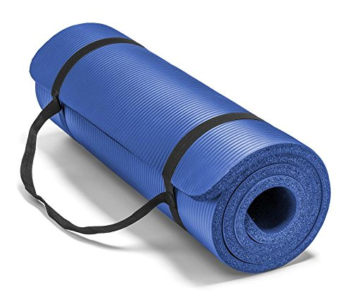 ヨガマット フィットネス 0034B Spoga Premium Extra Thick 71-Inch Long High Density Exercise Yoga Mat with Comfort Foam and Carrying Straps, Blueヨガマット フィットネス 0034B