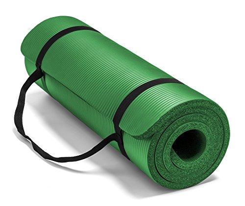ヨガマット フィットネス 0034F 【送料無料】Spoga Premium Extra Thick Long High Density Exercise Yoga Mat with Comfort Foam and Carrying Straps, Dark Green 72