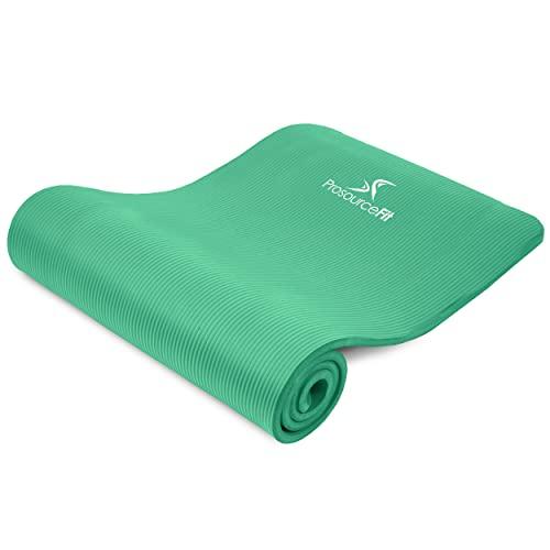 """ヨガマット フィットネス ps-2005-mat-green-ffp ProsourceFit Extra Thick Yoga and Pilates Mat ?"""" (13mm), 71-inch Long High Density Exercise Mat with Comfort Foam and Carrying Strap, Greenヨガマット フィットネス ps-2005-mat-green-ffp"""
