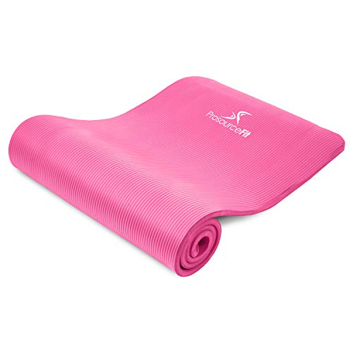 "ヨガマット フィットネス ps-2007-mat-pink-ffp ProsourceFit Extra Thick Yoga and Pilates Mat ?"" (13mm), 71-inch Long High Density Exercise Mat with Comfort Foam and Carrying Strap, Pinkヨガマット フィットネス ps-2007-mat-pink-ffp"