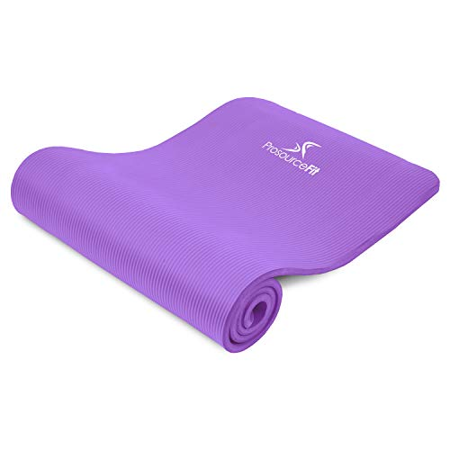 "ヨガマット フィットネス ps-2006-mat-purple-ffp ProsourceFit Extra Thick Yoga and Pilates Mat ?"" (13mm), 71-inch Long High Density Exercise Mat with Comfort Foam and Carrying Strap, Purpleヨガマット フィットネス ps-2006-mat-purple-ffp"